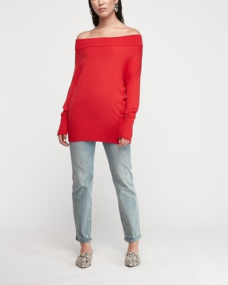 Express Banded Bottom Wedge Tunic Sweater