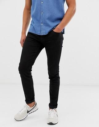 Le Breve print back pocket jeans-Black