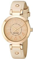 Nine West Women's NW/1712PKRG Rose Gold-Tone Case Blush Pink Strap Watch