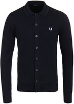 Fred Perry Tonal Twin Tipped Navy Knit Cardigan