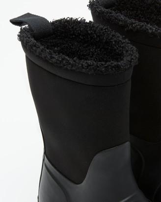 Hunter Little Kids Insulated Roll Top Sherpa Boots