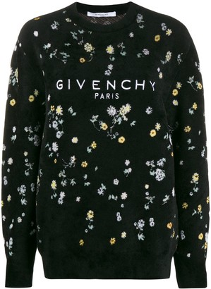Givenchy Floral Textured Jumper