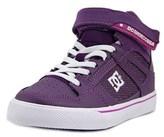 DC Spartan High Ev Youth Round Toe Canvas Purple Skate Shoe.