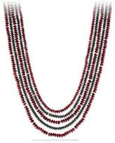 David Yurman Dy Multi-Row Bead Necklace With Garnet And Hematine In