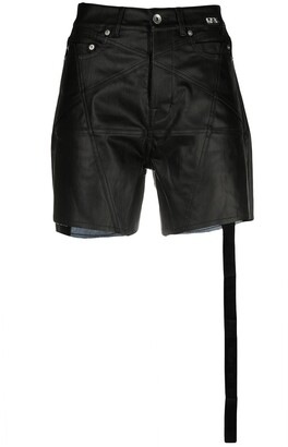 Rick Owens Side-Slit High-Waisted Shorts