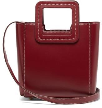 STAUD Shirley Mini Leather Shoulder Bag - Burgundy