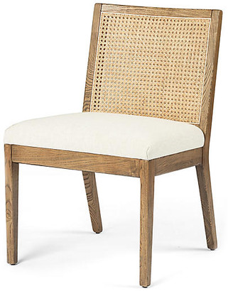 One Kings Lane Aimee Cane Side Chair - Toasted Nettlewood