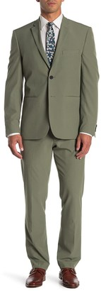 Perry Ellis Solid Very Slim Fit Performance Tech 2-Piece Suit