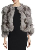 Trilogy Fox Fur Bolero, Gray