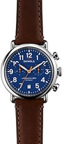 Shinola The Runwell Dark Brown Leather Strap Chronograph Watch, 41mm