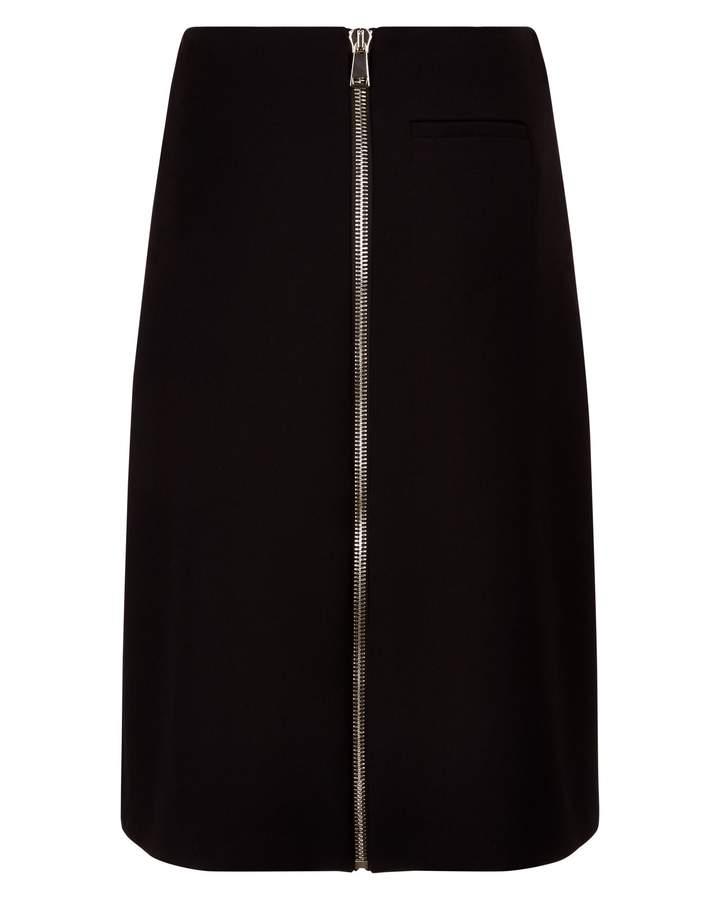 Jaeger Laboratory Zip-Front Skirt