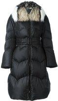 Ermanno Scervino fur collar oversized coat