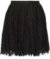 IRO Izia pleated guipure lace mini skirt