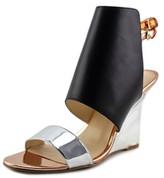 Nine West Bueta Women US 7.5 Black Wedge Heel