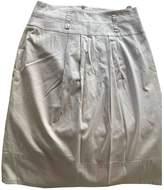 BOSS Beige Cotton - elasthane Skirt for Women