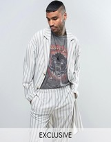 Reclaimed Vintage Inspired Striped Duster Jacket