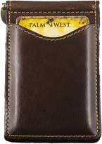 Palm West Leather Palm West 225RFID-C-CA Men's Gift Premium Leather Money Clip Wallet RFID Blocker