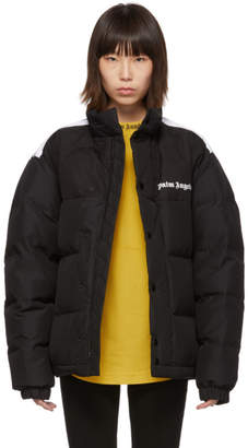 Palm Angels Black Down Track Puffer Jacket