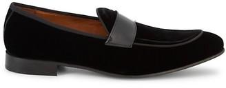 Massimo Matteo Velvet Patent Loafers