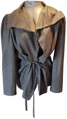 Brioni Grey Silk Jacket for Women