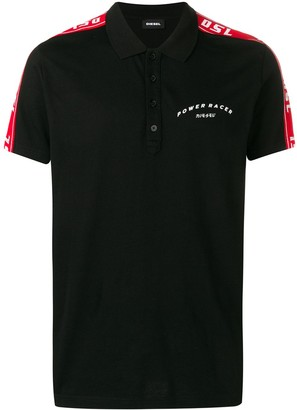 Diesel Logo Stripe Polo Shirt