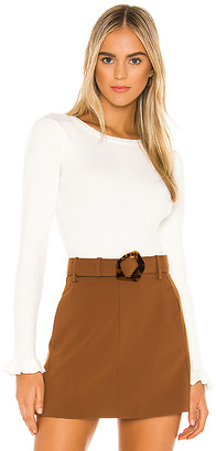 Milly Gathered Sleeve Rib Top