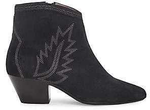 Isabel Marant Women's Dacken Western Suede Ankle Boots