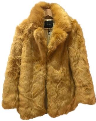 Uterque Yellow Faux fur Coats