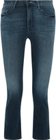 Mother The Insider Crop high-rise flared jeans
