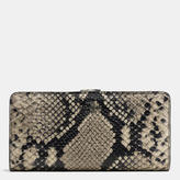 Coach Skinny Wallet In Python Embossed Leather