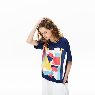 Lacoste Women's Art-Print Cotton T-Shirt