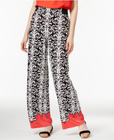 INC International Concepts Printed Wide-Leg Pants, Only at Macy's