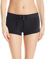 Tommy Hilfiger Women's Solid Swim Short Bikini Bottom