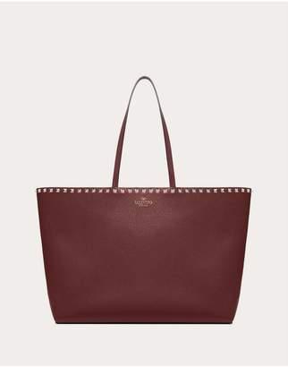 Valentino Garavani Large Grain Calfskin Leather Rockstud Shopping Bag