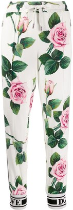 Dolce & Gabbana Rose Print Track Trousers
