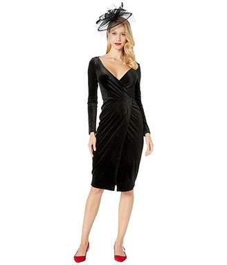 Unique Vintage Velvet Long Sleeve Damsel Wiggle Dress