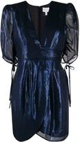 Alice McCall Metallic V-Neck Mini Dress