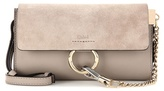 Chloé Faye Mini Leather And Suede Wallet Bag