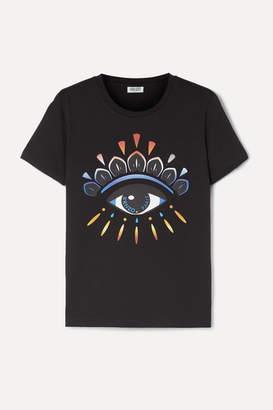 Kenzo Gradient Eye Printed Cotton-jersey T-shirt - Black