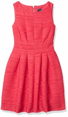 Gabby Skye Women's Petite Sleeveless Round Neck Knit Fit & Flare Dress