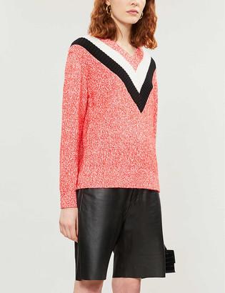 Claudie Pierlot Media cotton-blend knitted jumper