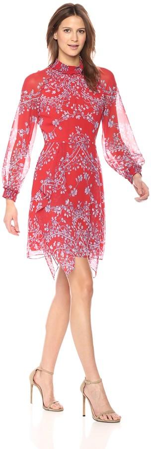 BCBGMAXAZRIA Azria Women's Fifi Porcelain Vines Dress