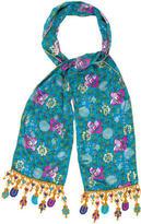 Anna Sui Silk Printed Scarf