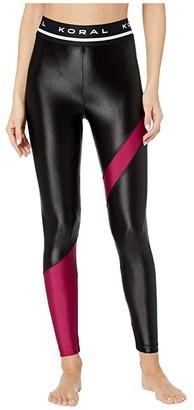 Koral Appeal High-Rise Limitless Plus Leggings (Black/Desejo) Women's Casual Pants