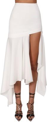 Thierry Mugler Asymmetric Wool Twill Skirt