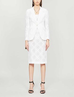 Alexander McQueen Floral-lace cotton-blend blazer