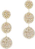 Suzanna Dai Rhinestone Gumball Drop Earrings