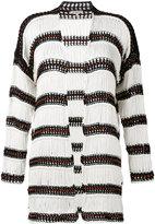 Etro striped cardigan - women - Cotton/Nylon - 40