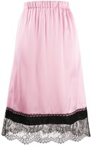 No.21 lace-trimmed midi skirt