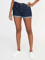 Old Navy Mid-Rise Cuffed Jean Shorts For Women - 3-Inch Inseam